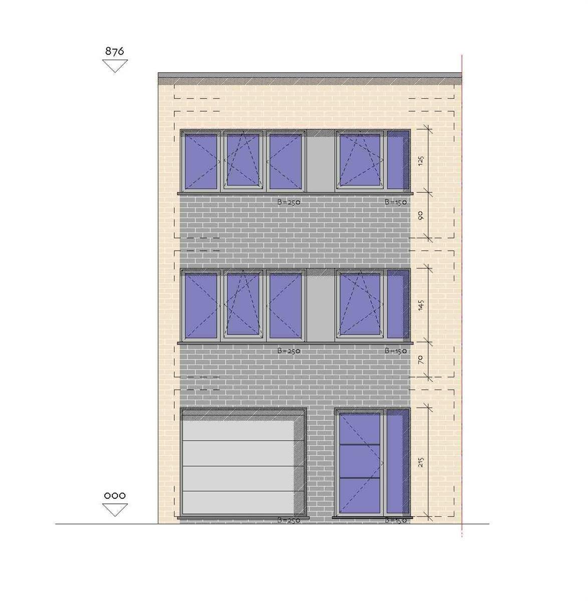 Nieuwbouwproject met 2 op te richten half-open bebouwingen