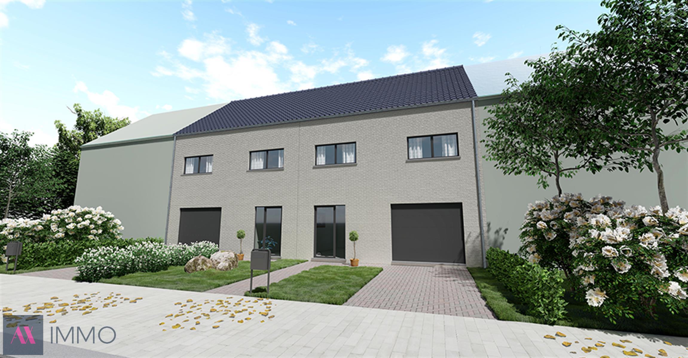 Verkaveling met 2 nieuw te bouwen gesloten woningen met grondoppervlaktes vanaf 03 are 49 ca