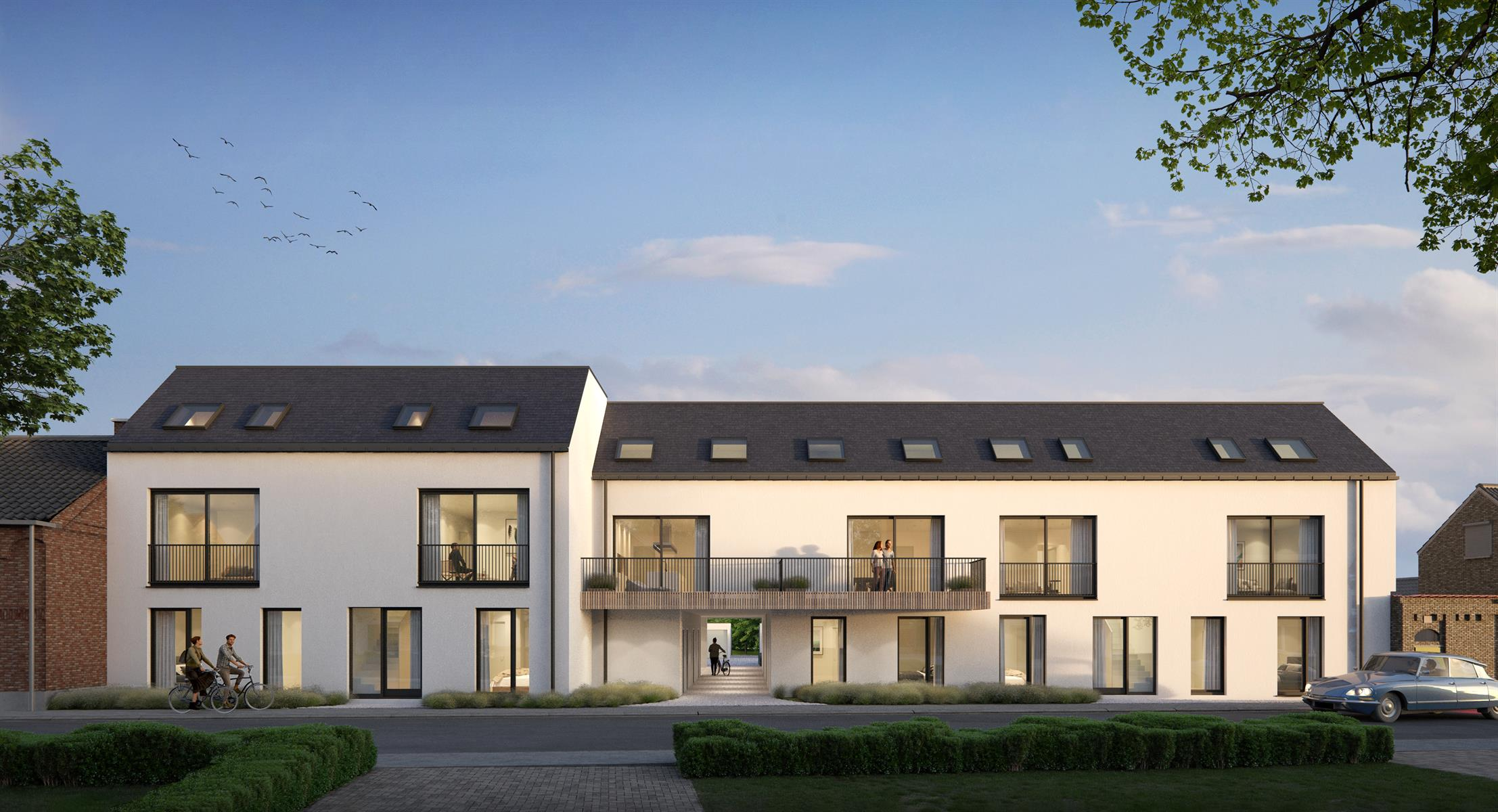 Residentie Enya (www.enya.com) voor 50 % VERKOCHT, bestaande uit 11 ruime appartementen met 1,2 of 3 slaapkamers
