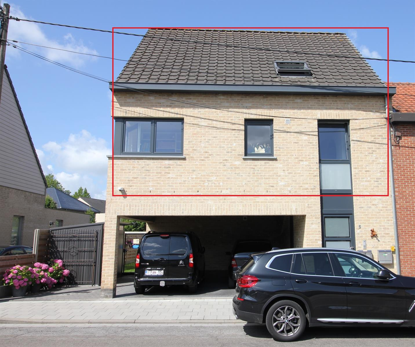 Duplex appartement met 2 slaapkamers en terras