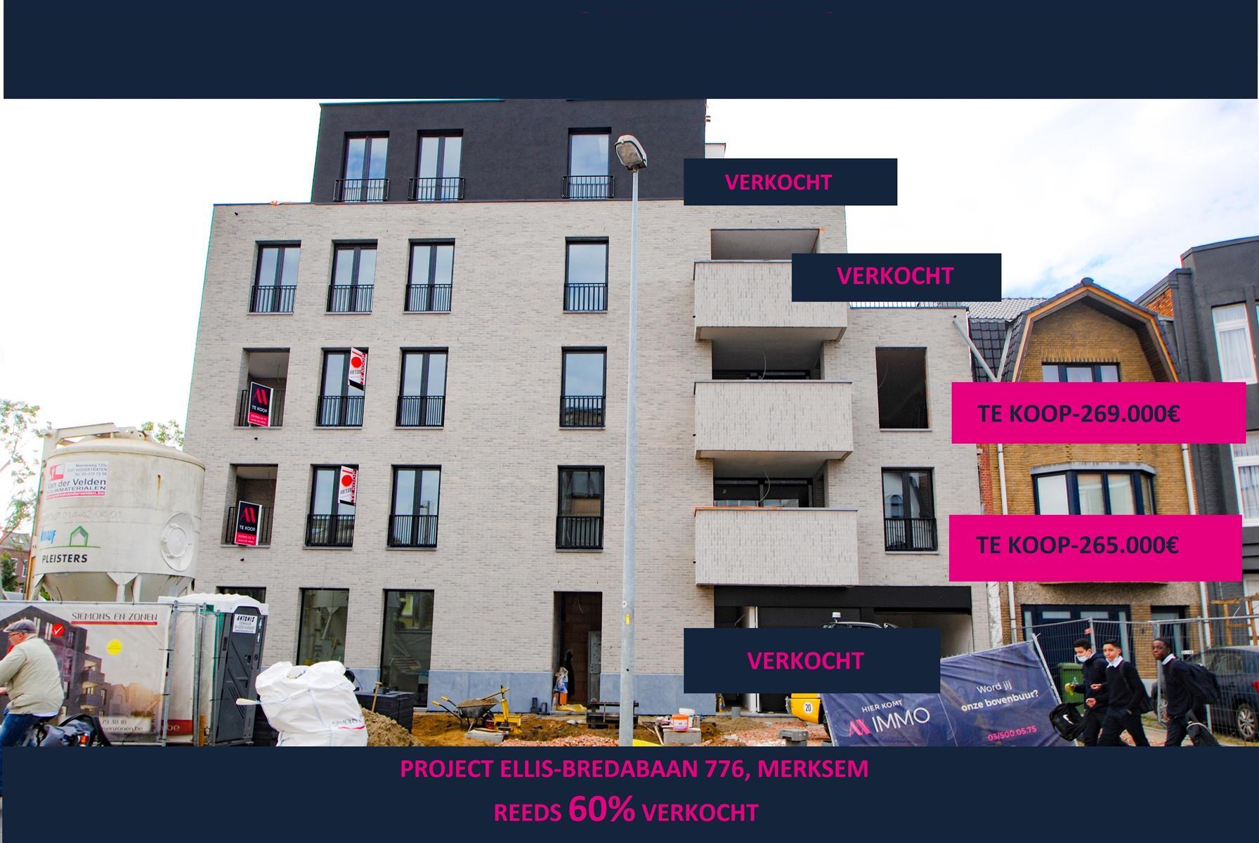 Nieuwbouw 2slpk app 2e verd. met terras