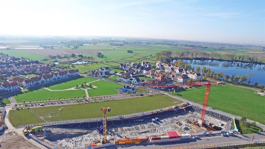 Duinenwater bouwloten - laatste fase Knokke-Heist