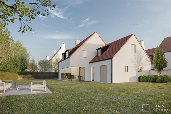 Knappe nieuwbouwvilla gelegen in het landelijke Ramskapelle.