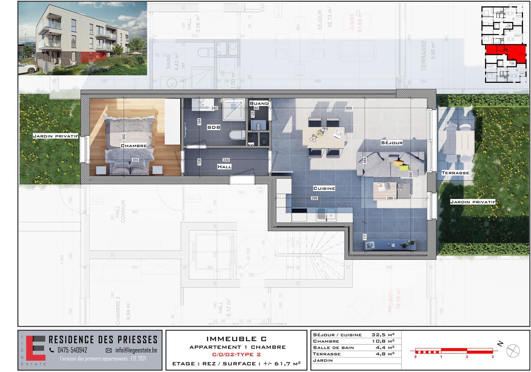 Ground floor with garden - Flemalle - #4197026-32