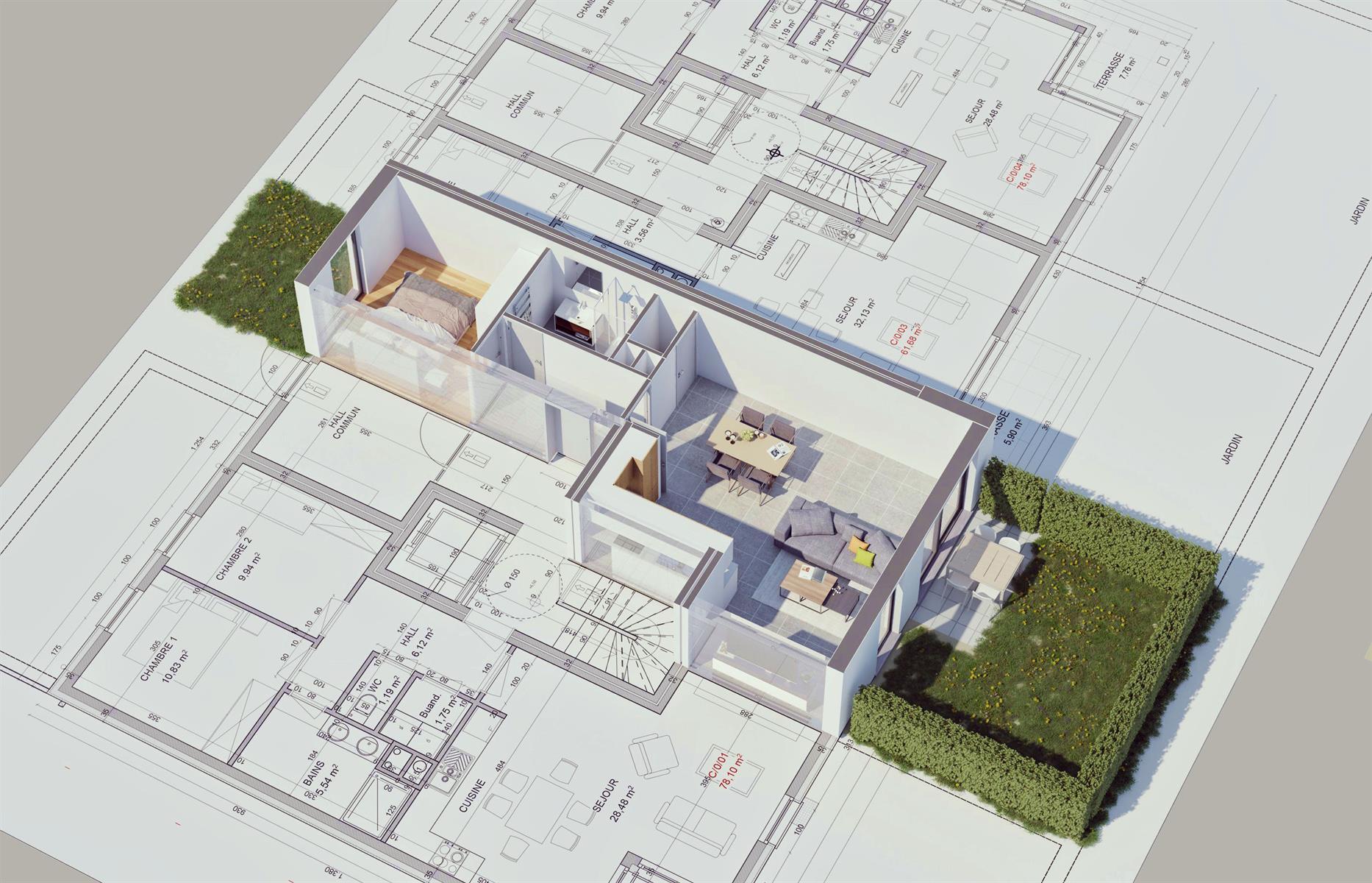 Ground floor with garden - Flemalle - #4197026-33