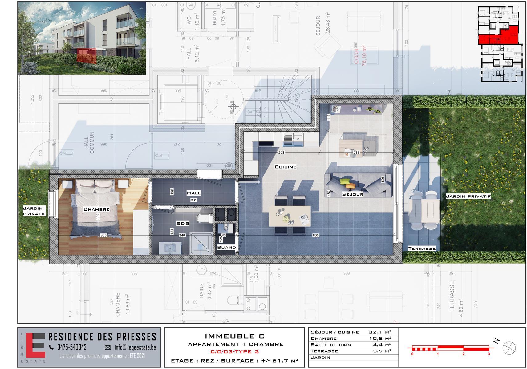 Ground floor with garden - Flemalle - #4197040-32