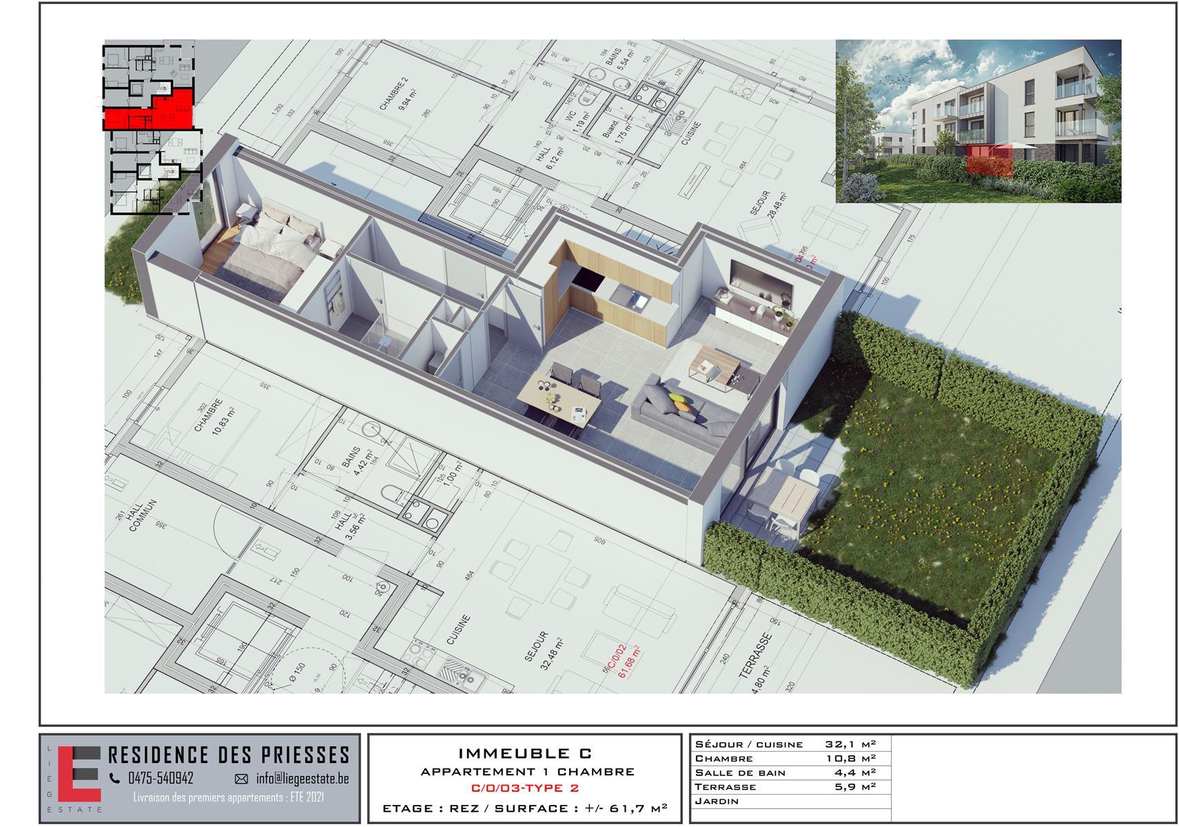 Ground floor with garden - Flemalle - #4197040-33