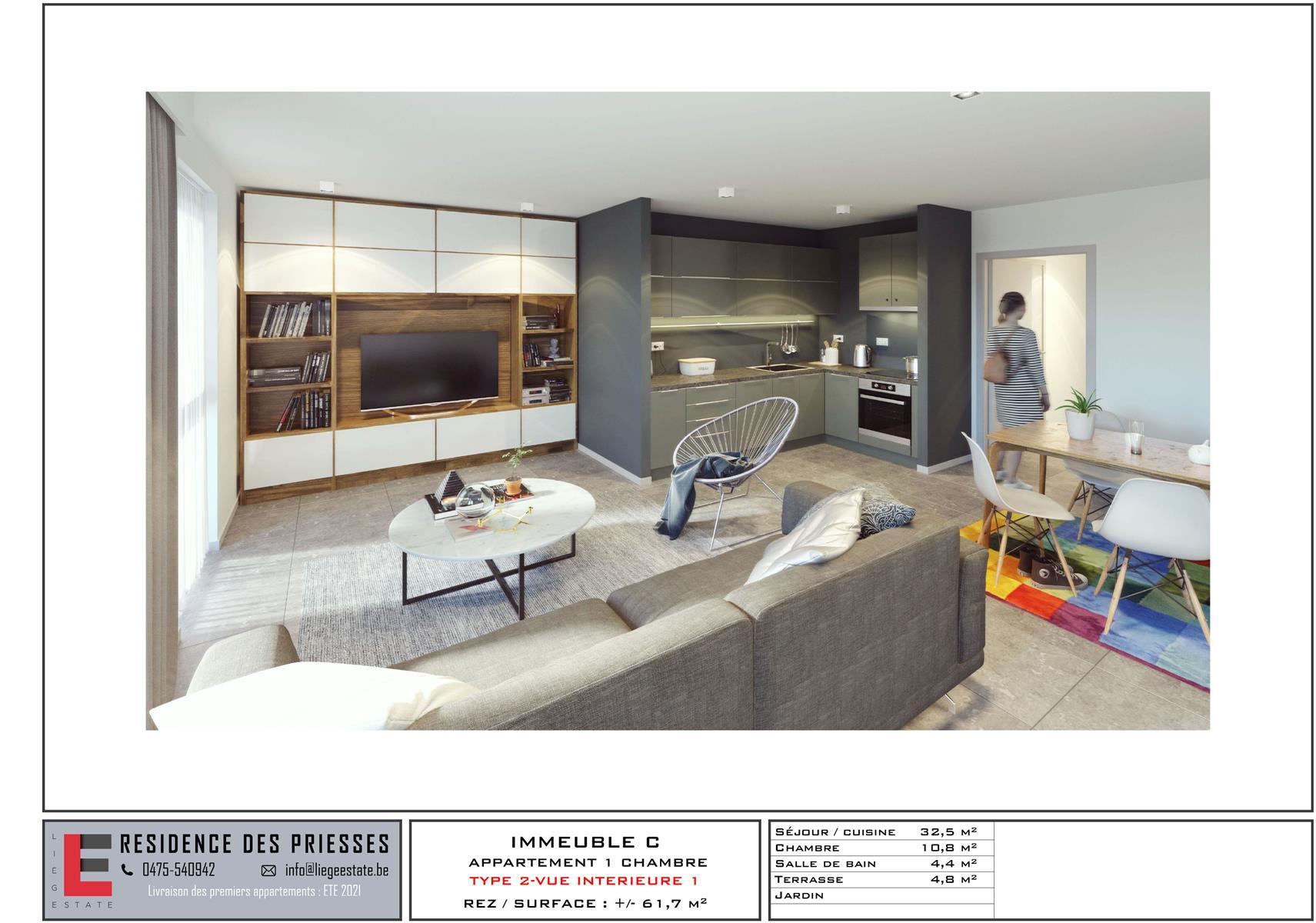 Ground floor with garden - Flemalle - #4197040-34