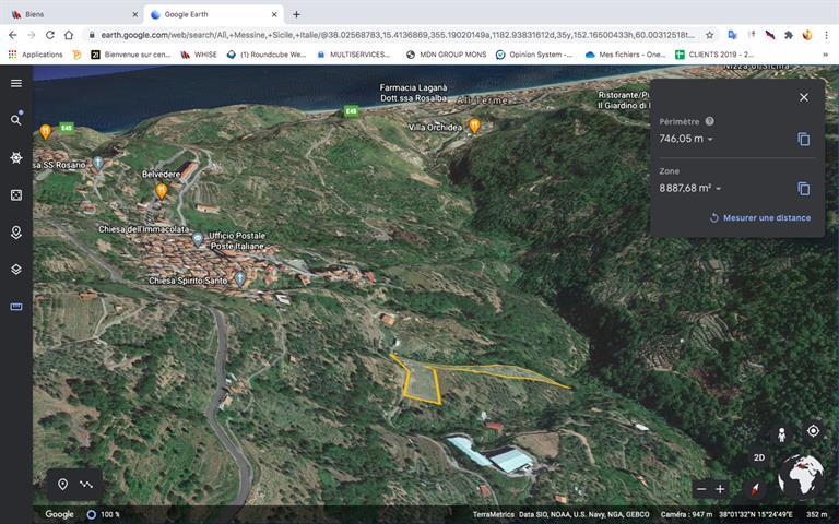 Terrain � b�tir � vendre en Sicile.