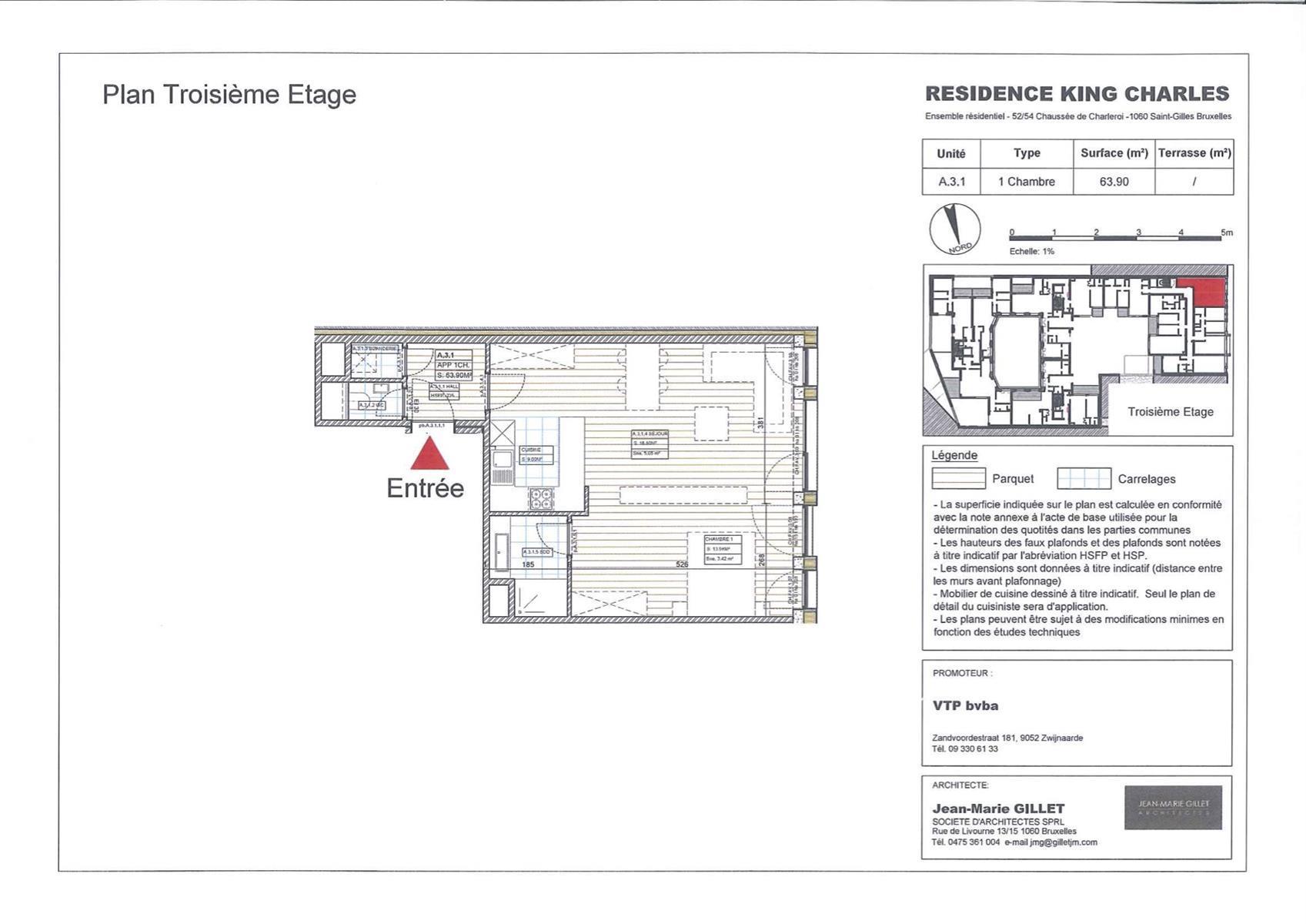 Appartement - Saint-Gilles - #3999460-0