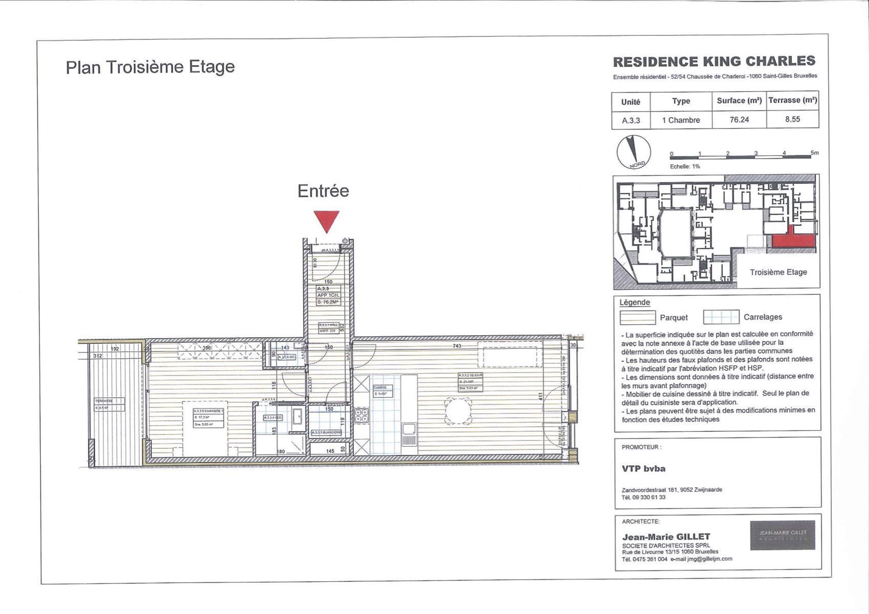 Appartement - Saint-Gilles - #3999461-0