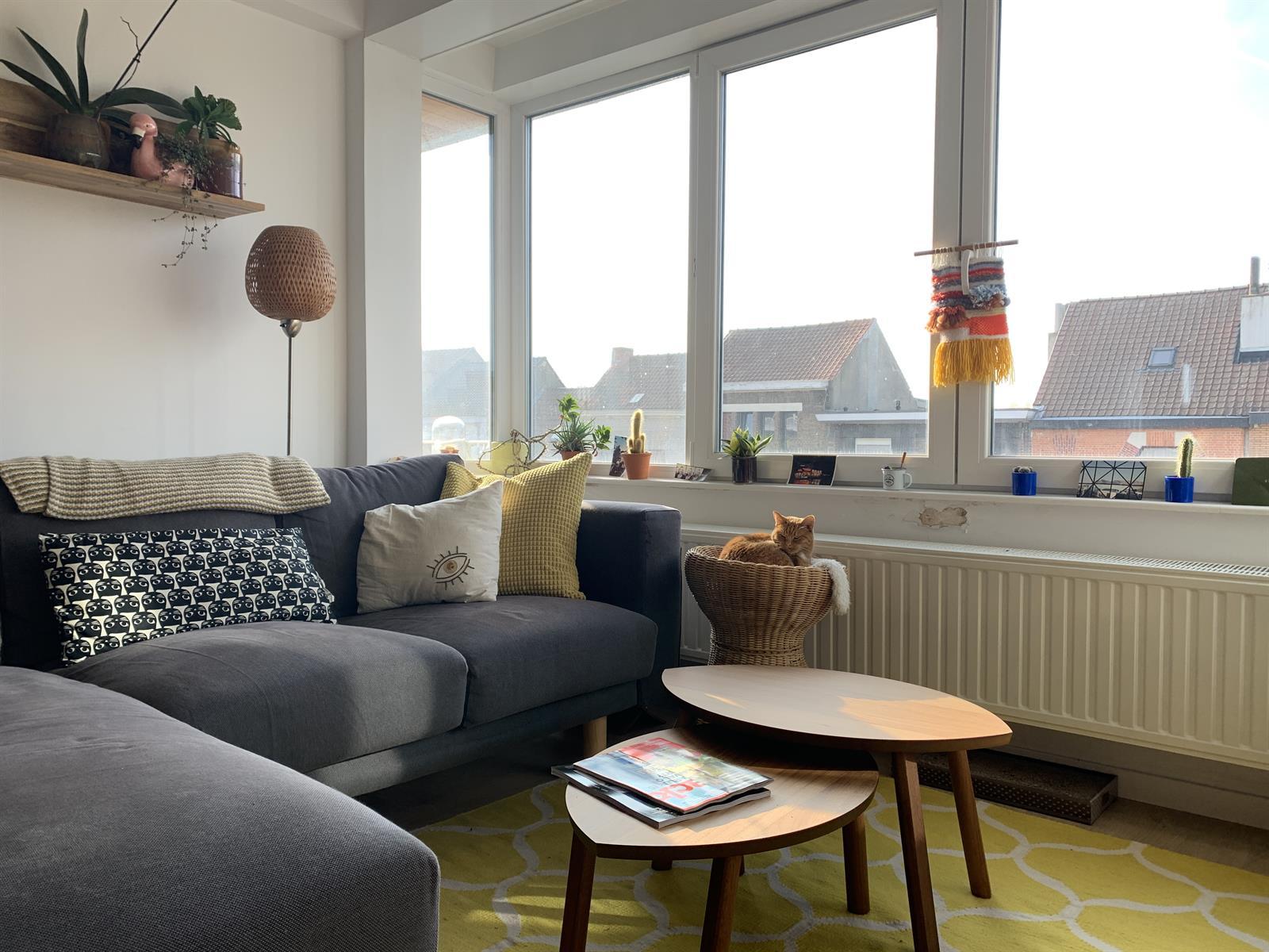 Lichtrijk tweeslaapkamerappartement te huur in Gent