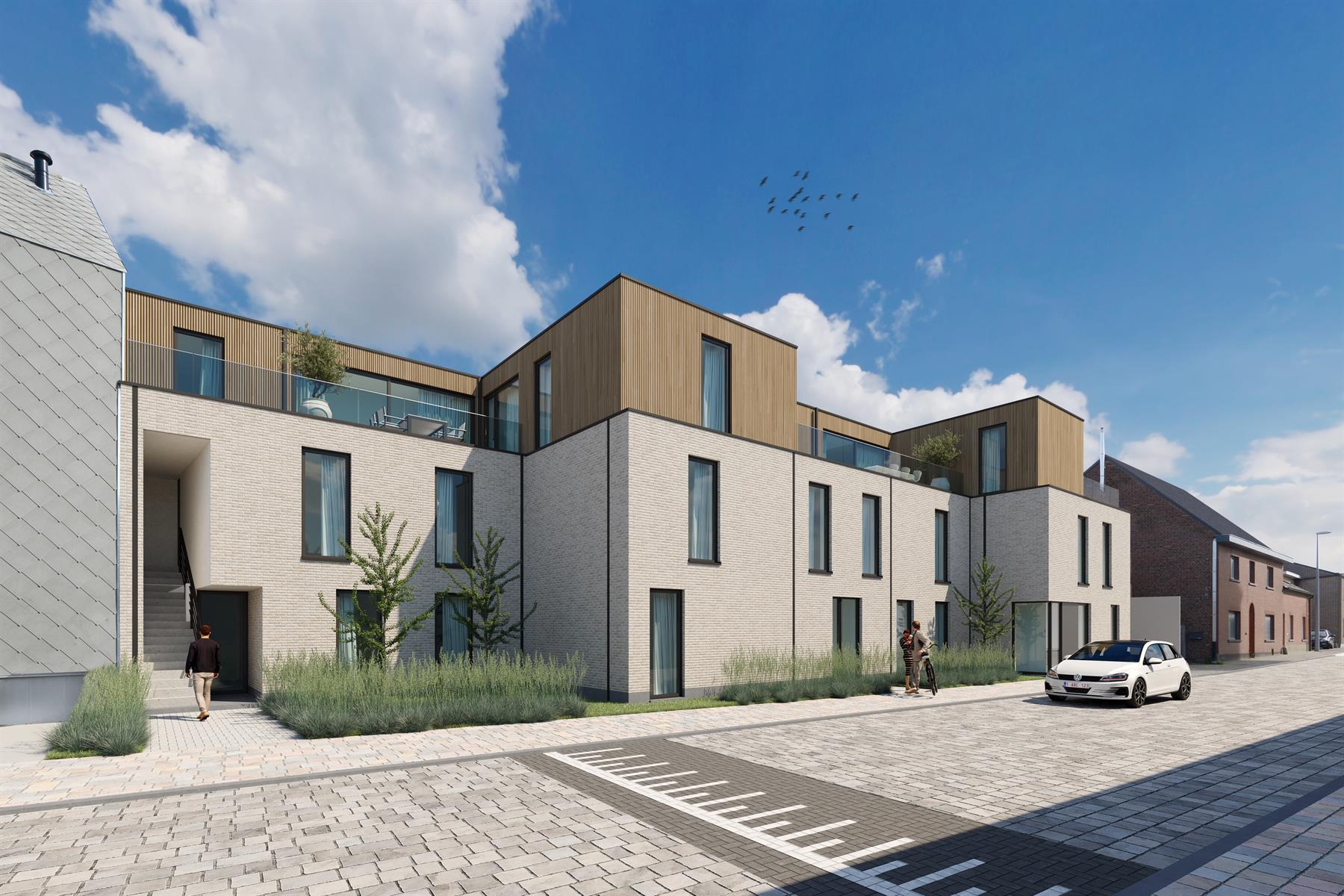 Appartement op 1e verdieping (70m2) met 2 SLPK en terras (19m2)  - Bavegem
