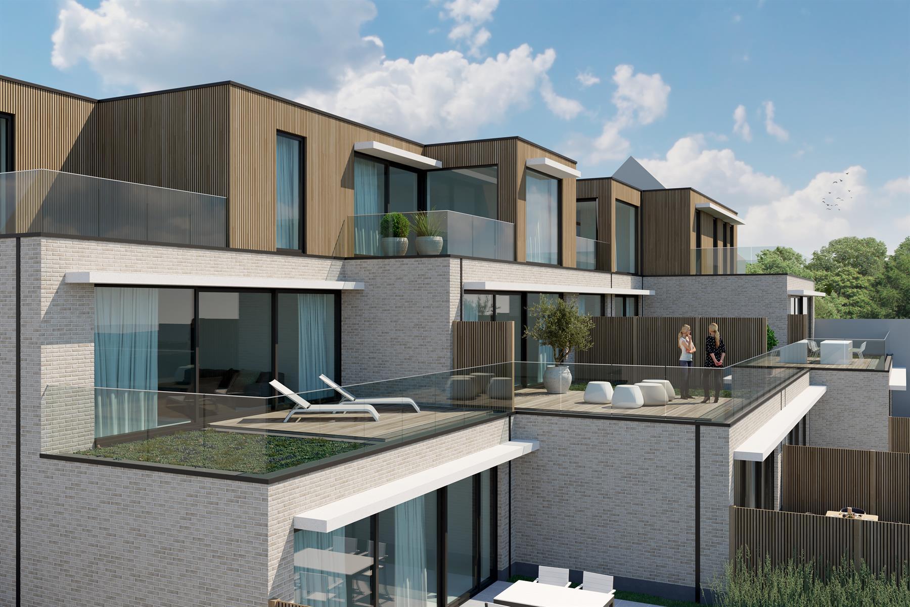 Penthouse (93m2) met 2 SLPK en meerdere terrassen (20m2) - Bavegem