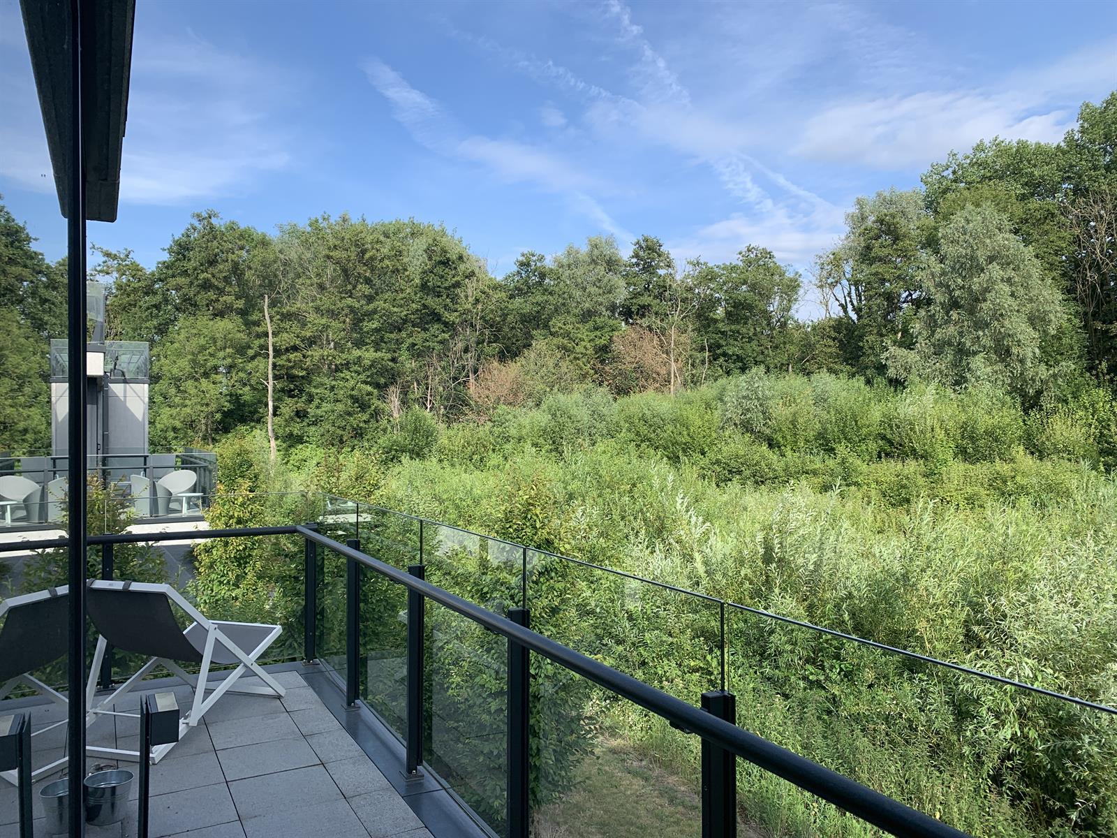 2 slpk-app met zicht op natuurgebied te St-Martens-Latem