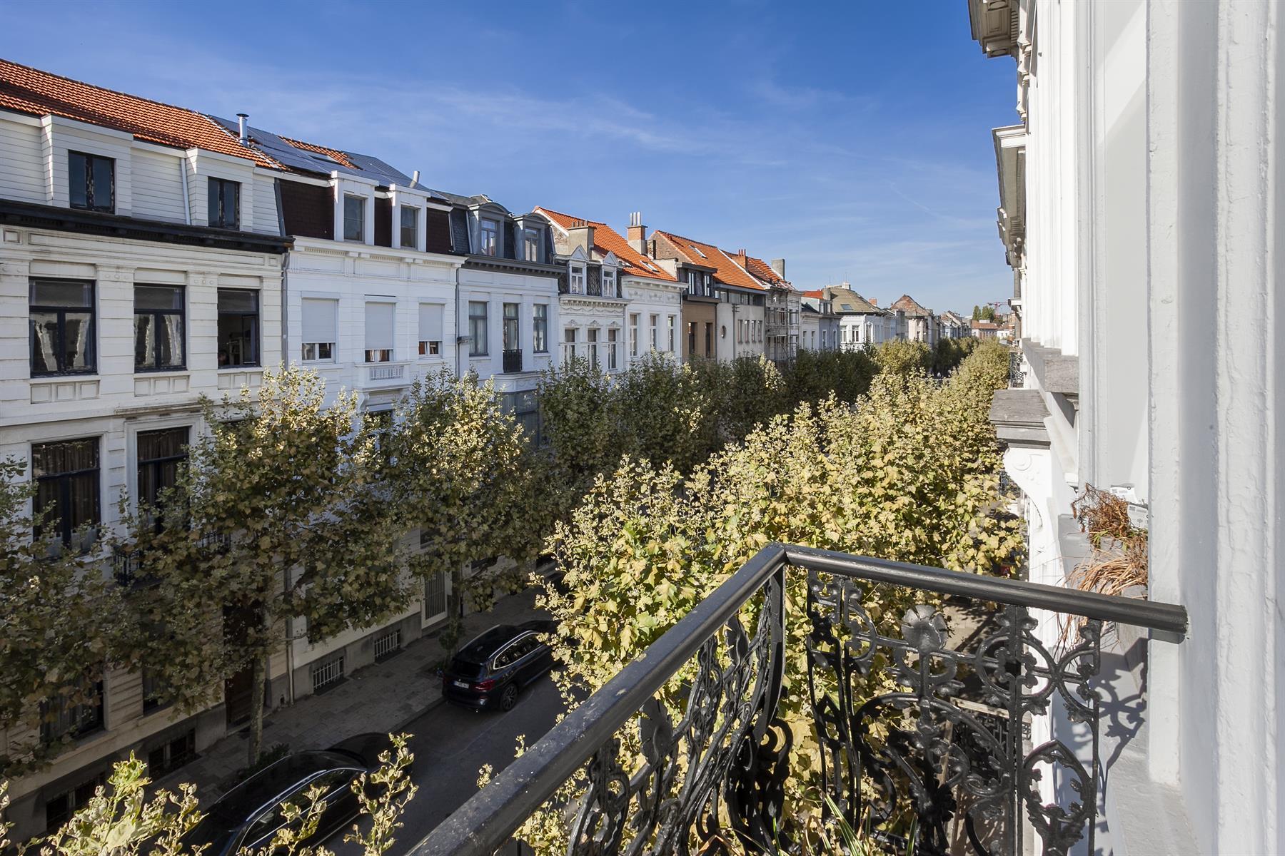 Een-slaapkamer appartement met groot terras in herenwoning.