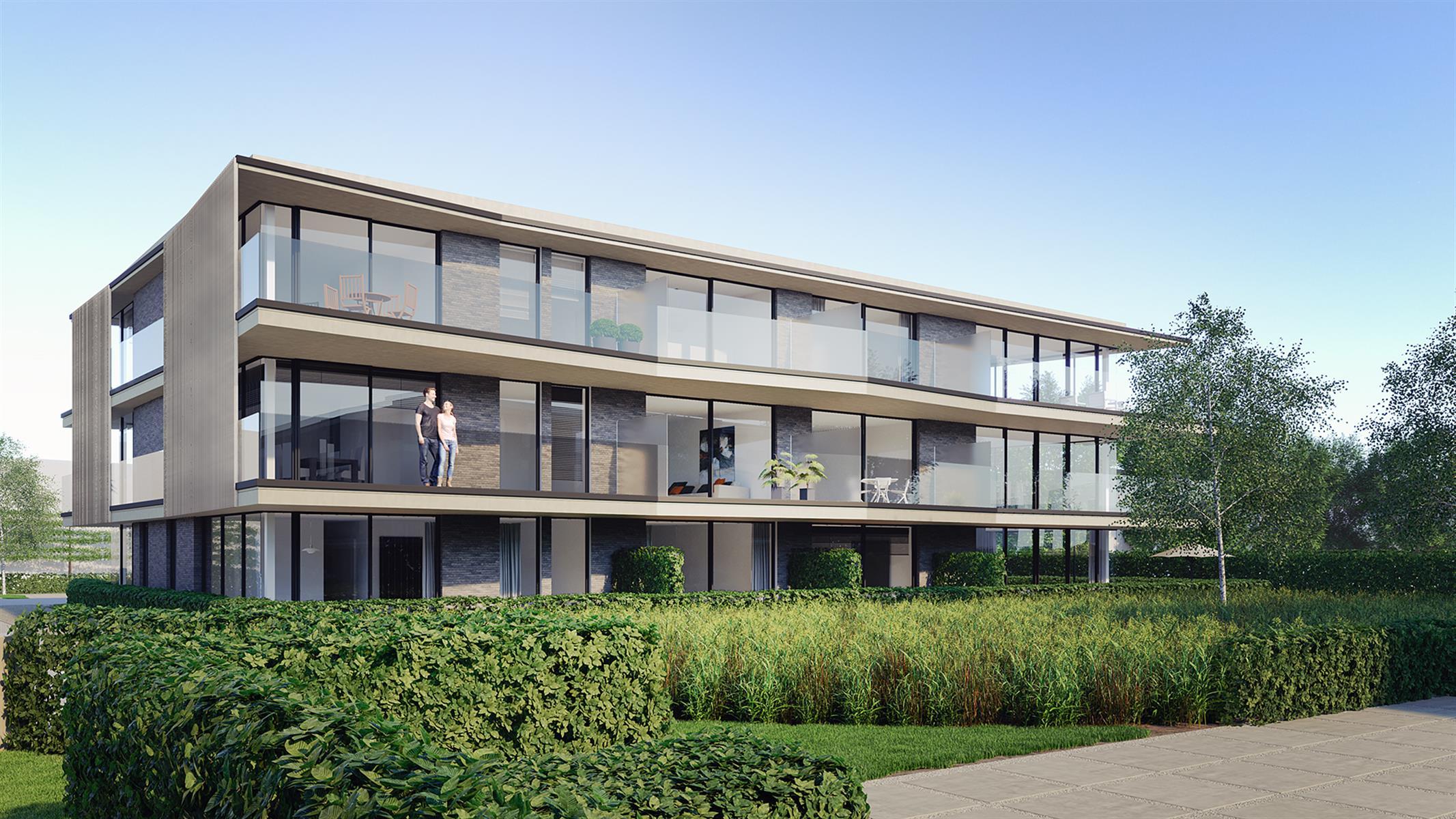 Moderne architectuur in een parkresidentie nabij centrum Beveren.