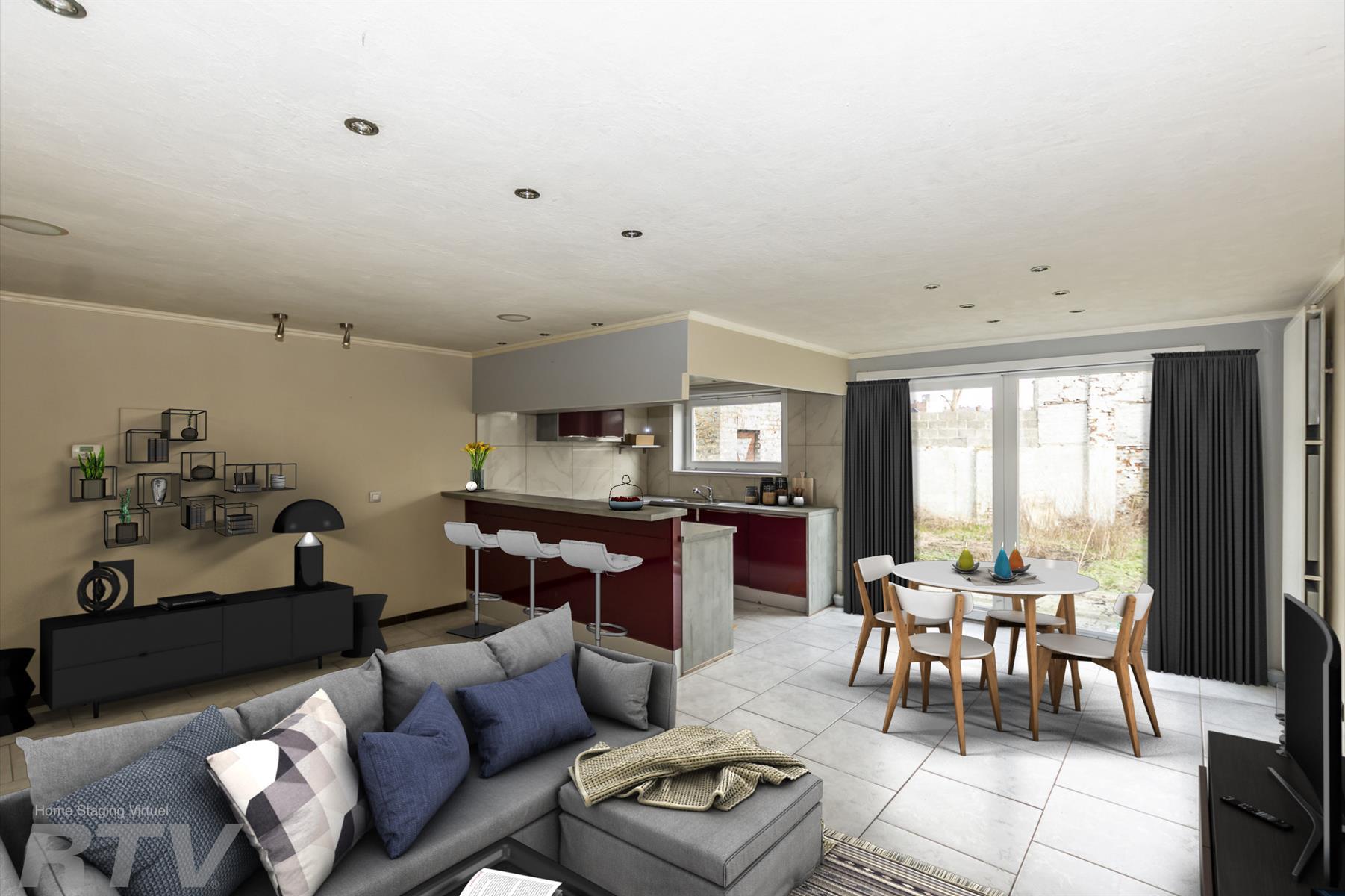 Spacieux appartement 3 chambres avec terrasse et jardin à découvrir !!.