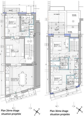 Infos et visites uniquement par e-mail : fabian@morgans  SAINT-GILLES - Rue du Lycée 17 - Idéalement situé à proximité des transports en commun, des commerces et de toutes les facilités; superbe appartement en duplex entièrement remis a neuf; situé au 2ème et 3ème étage d'un petit immeuble