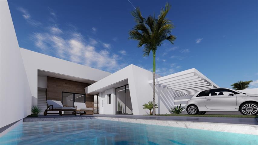 Maison design de plain pied avec piscine